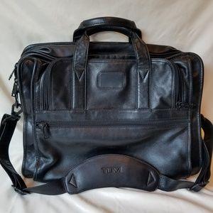 Tumi leather briefcase laptop bag
